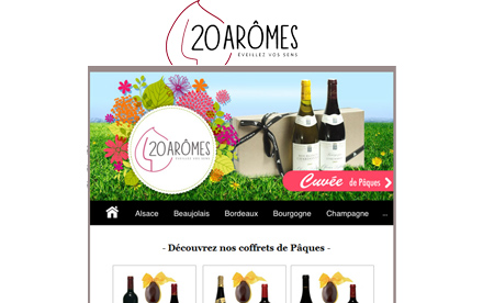 Newsletter promotionnelle - 20aromes.com
